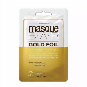 5 Sheet Masks Masque Bar Gold Foil